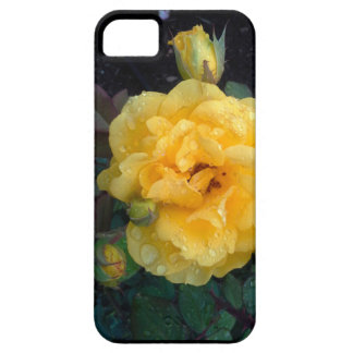 YELLOW ROSE AND RAINDROPS phone case