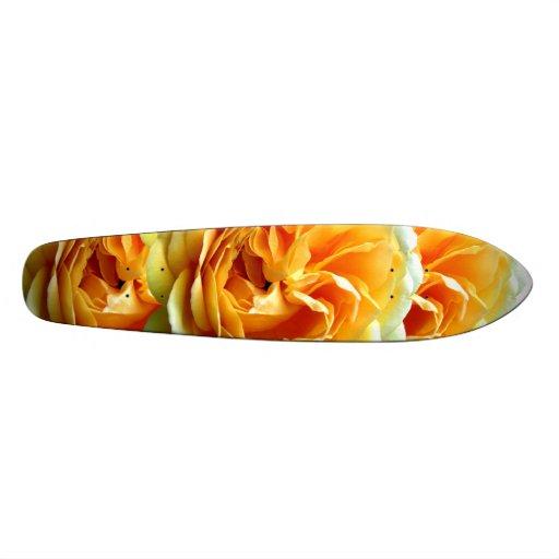 Yellow Rose Bloom Skateboard