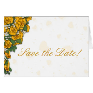 Yellow Rose Bouquet Save the Date Note Card