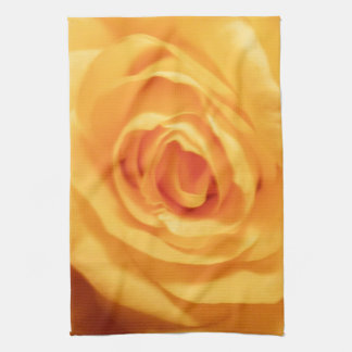 Yellow Rose Bud Roses Flower Floral Photo Kitchen Towel