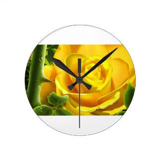 Yellow Rose Clocks