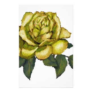 Yellow Rose: Color Pencil Drawing: Flower Stationery