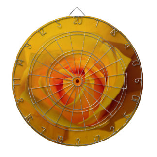 Yellow Rose Dartboard