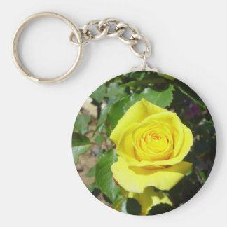 Yellow Rose Floral 4 Keychain