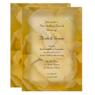 Yellow Rose Floral Post Wedding Brunch Invitation