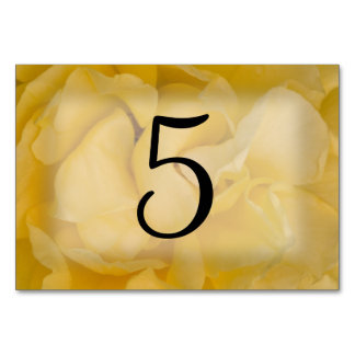 Yellow Rose Floral Table Numbers Table Cards