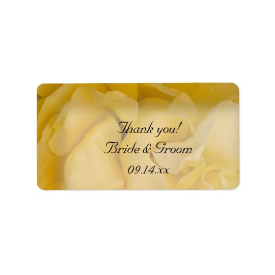 Yellow Rose Floral Wedding Thank You Favour Tags