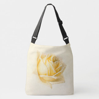 Yellow Rose Flower Blossom Painting Tote Bag