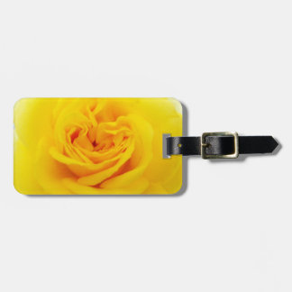 Yellow Rose Flower Close-up Luggage Tag