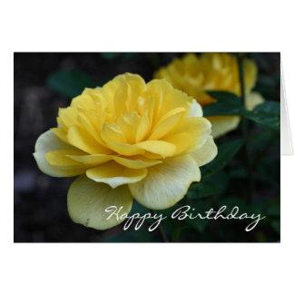 Yellow Rose Flower Photography Birthday Card