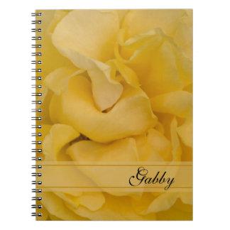 Yellow Rose Flower Spiral Notebook