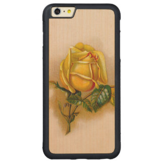 yellow rose flowers vintage carved® maple iPhone 6 plus bumper case