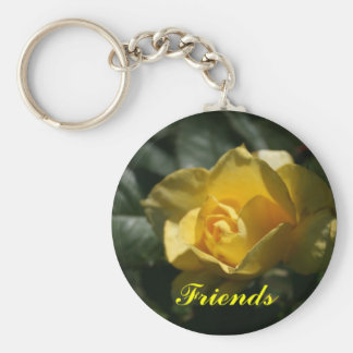 Yellow Rose Friends Keychain