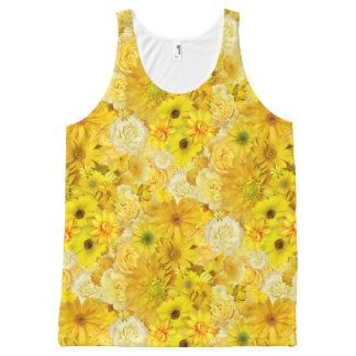 Yellow Rose Friendship Bouquet Gerbera Daisy All-Over-Print Tank Top