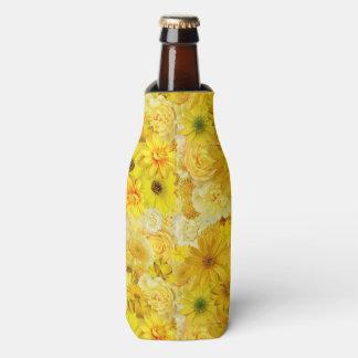 Yellow Rose Friendship Bouquet Gerbera Daisy Bottle Cooler