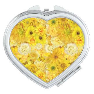 Yellow Rose Friendship Bouquet Gerbera Daisy Compact Mirror
