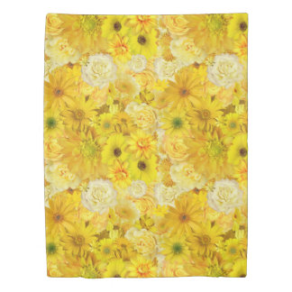 Yellow Rose Friendship Bouquet Gerbera Daisy Duvet Cover