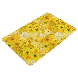 Yellow Rose Friendship Bouquet Gerbera Daisy Floor Mat