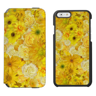 Yellow Rose Friendship Bouquet Gerbera Daisy Incipio Watson™ iPhone 6 Wallet Case