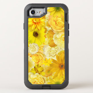 Yellow Rose Friendship Bouquet Gerbera Daisy OtterBox Defender iPhone 8/7 Case