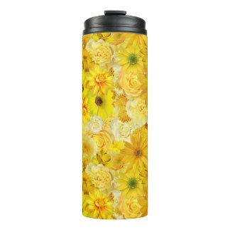 Yellow Rose Friendship Bouquet Gerbera Daisy Thermal Tumbler