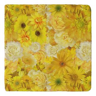 Yellow Rose Friendship Bouquet Gerbera Daisy Trivet