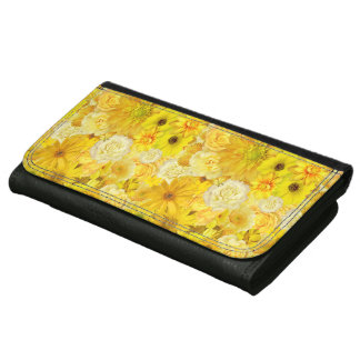 Yellow Rose Friendship Bouquet Gerbera Daisy Wallet