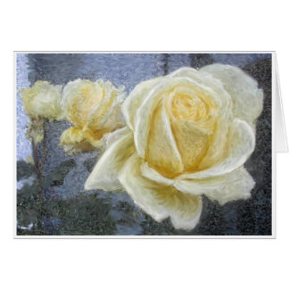 YELLOW ROSE IMPRESSION CARD