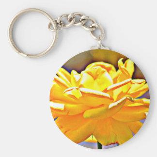 Yellow Rose in Chromatic Basic Key Chain