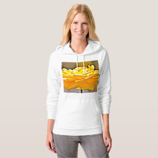 Yellow Rose in Chromatic California Fleece Hoodie