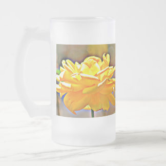 Yellow Rose in Chromatic Frosted Mug
