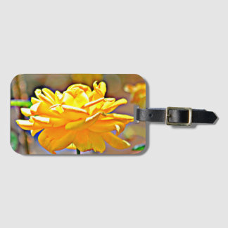 Yellow Rose in Chromatic Luggage Tag