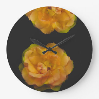 Yellow rose large clock