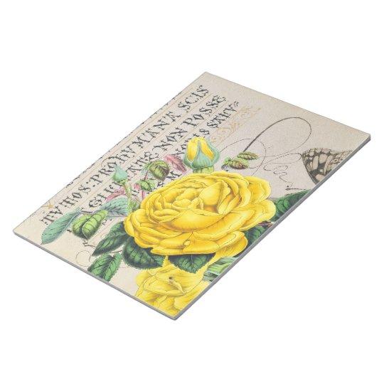 Yellow Rose Manuscript Notepad