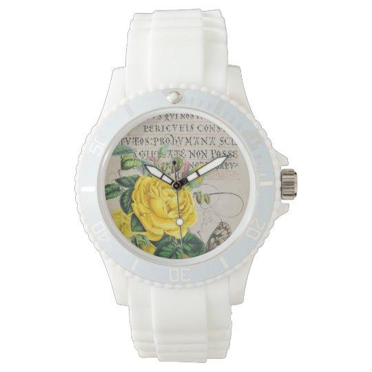 Yellow Rose Manuscript Wristwatches