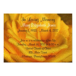 Yellow Rose Memorial Service Announcement