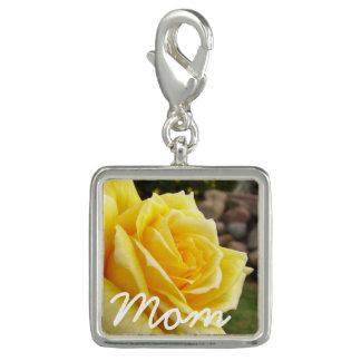 "Yellow Rose ""Mom"" Charm"