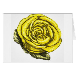 Yellow rose of friendship card