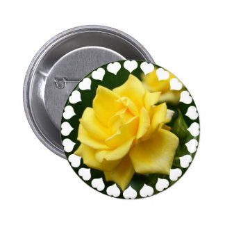 Yellow Rose of Texas 2 Inch Round Button