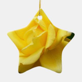 Yellow Rose of Texas Ceramic Ornament
