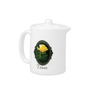 Yellow Rose Of Texas Teapot