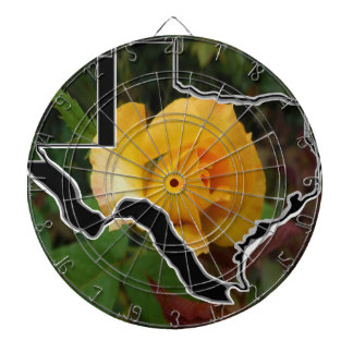 Yellow Rose of Texas with Texas Dartboard