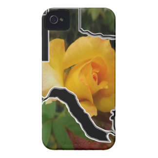 Yellow Rose of Texas with Texas iPhone 4 Cover