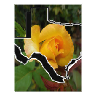 Yellow Rose of Texas with Texas Letterhead