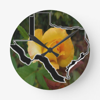 Yellow Rose of Texas with Texas Round Clock