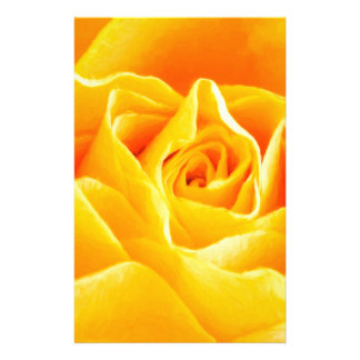 Yellow rose painted stationery paper