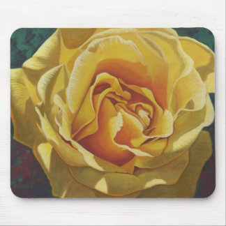 Yellow Rose Painting - Mouse Pad