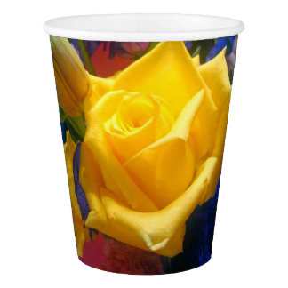 Yellow Rose Paper Cup, 9 oz. Paper Cup