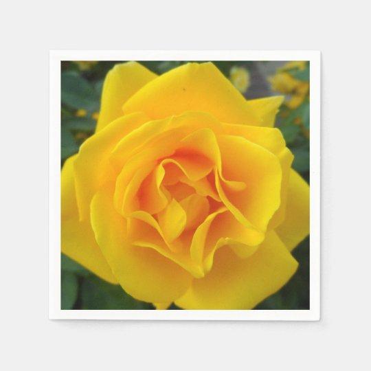 Yellow Rose Paper Napkins