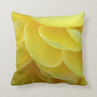 Yellow Rose Petals Throw Pillow